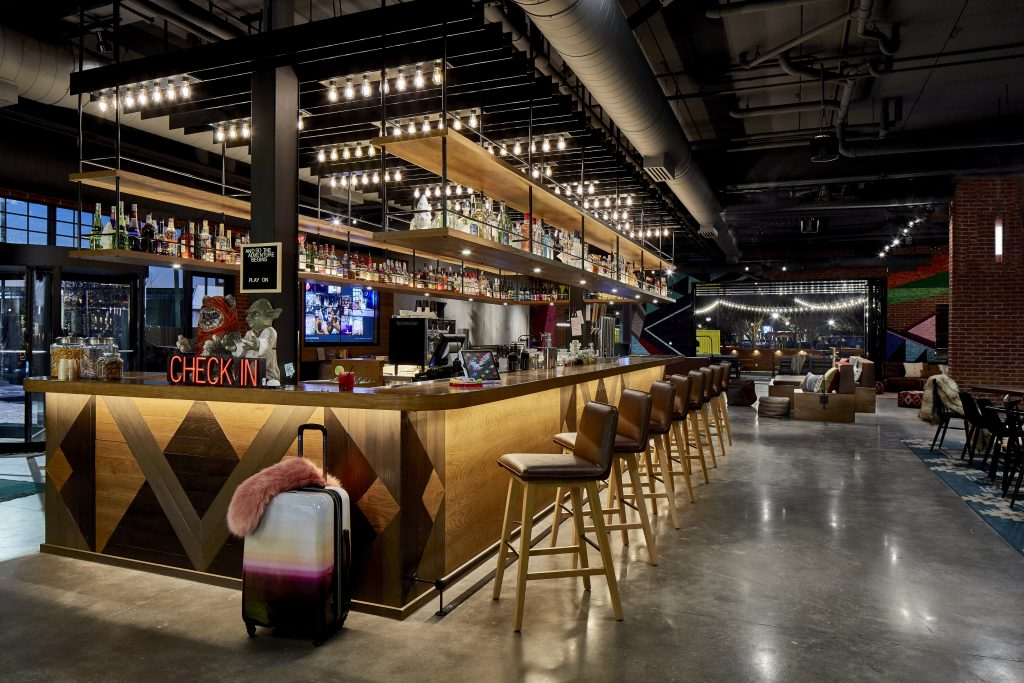 Bar Moxy. Where every guest begins their experience #AtTheMoxy with a welcome and a cocktail.