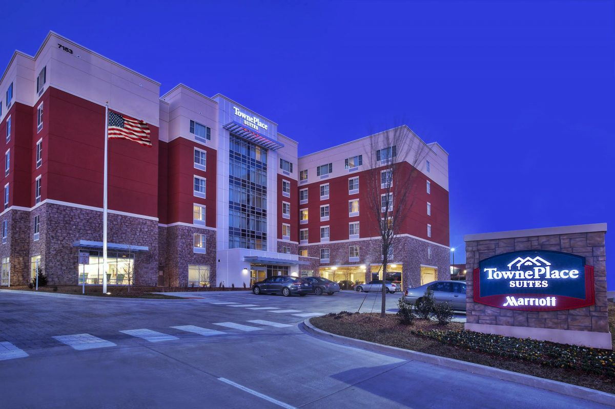 Hospitality - TownePlace Suites Franklin Cool Springs Exterior Night