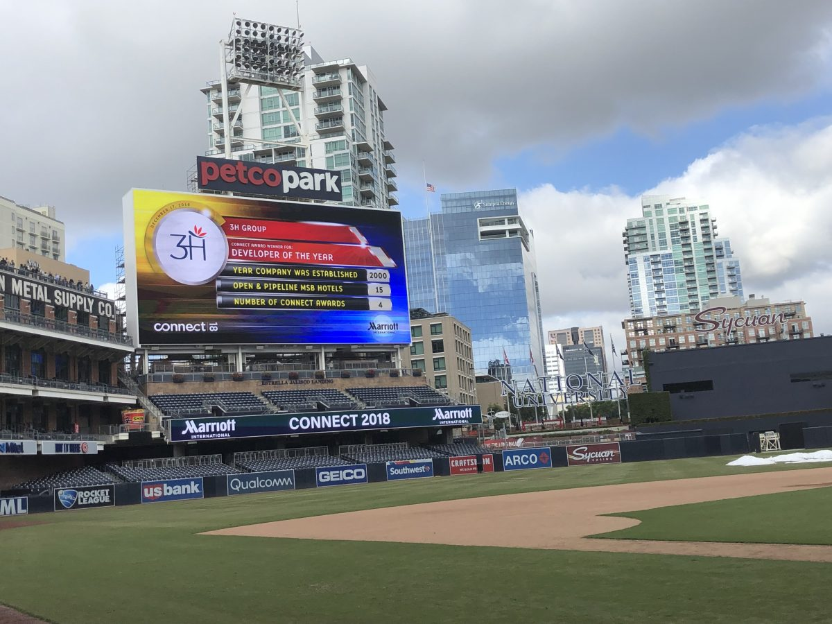 3H is featured at Petco Park in San Diego California